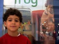 2004 - Marley at Discovery Store with Poster - video